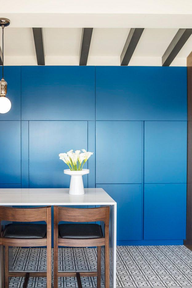 cocina mueble modular azul