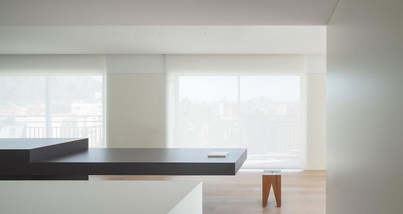 cocina minimalista ventanales