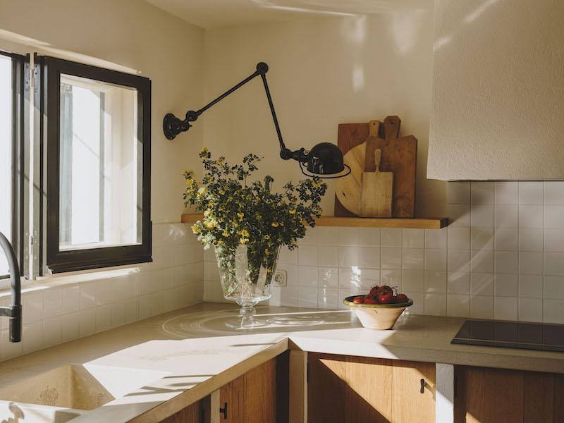 detalle cocina lampara