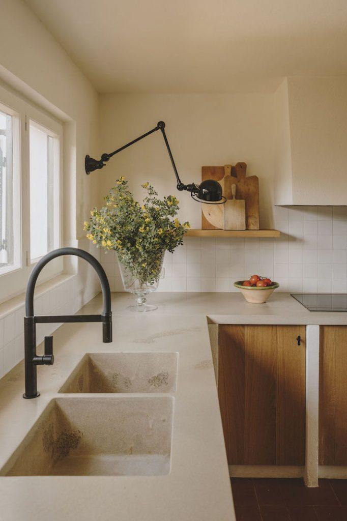 fregadero cocina marmol