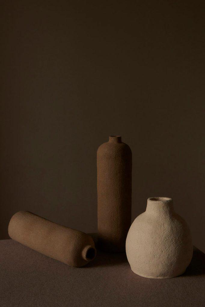 tres jarrones ceramica