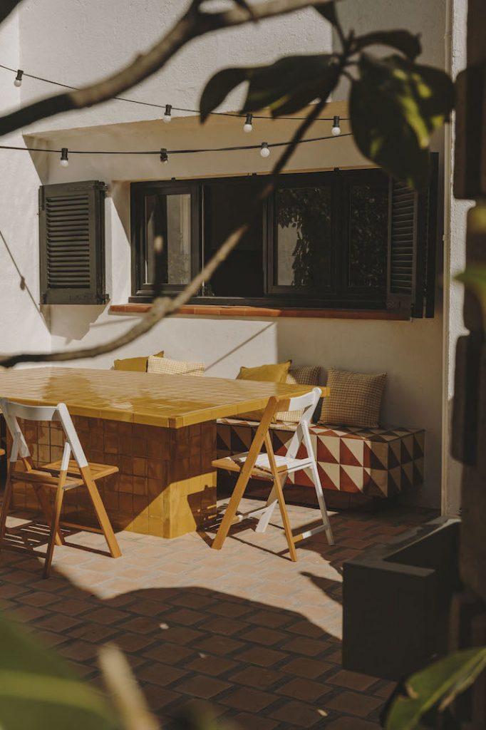 jardin mesa de ceramica