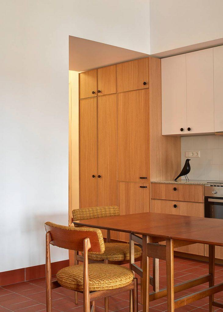 detalle vivienda mobiliario estilo retro muebles a medida