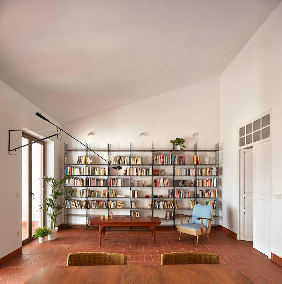 gran libreria modular en vivienda decoración Multistrux multimueble